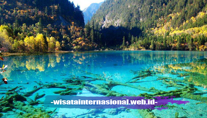 Crystalline Turquoise Lake di Jiuzhaigou, China